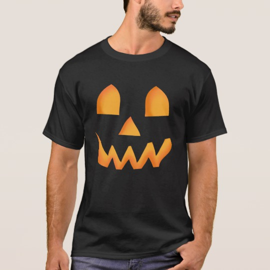 Jack O Lantern Face Basic Dark T-Shirt