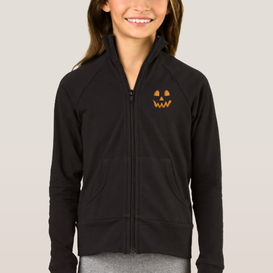 Jack O Lantern Face Girls' Boxercraft Practice Jacket