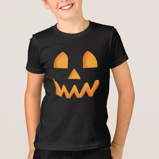 Jack O Lantern Face Kids' American Apparel Fine Jersey T-Shirt