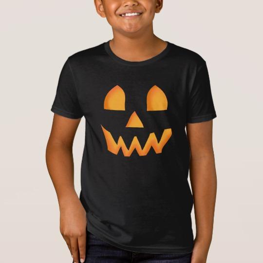 Jack O Lantern Face Kids' American Apparel Organic T-Shirt