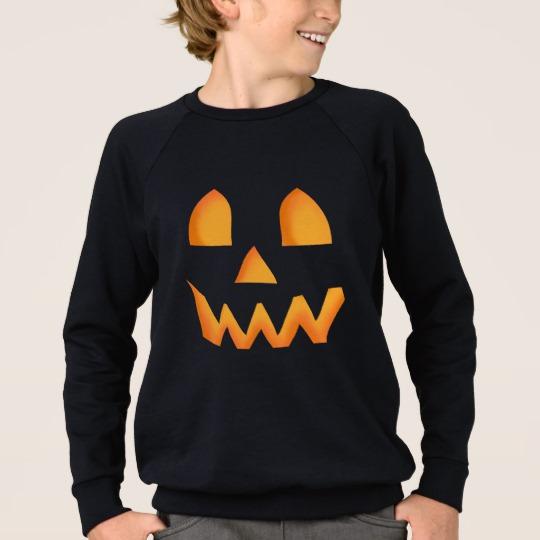 Jack O Lantern Face Kids' American Apparel Raglan Sweatshirt