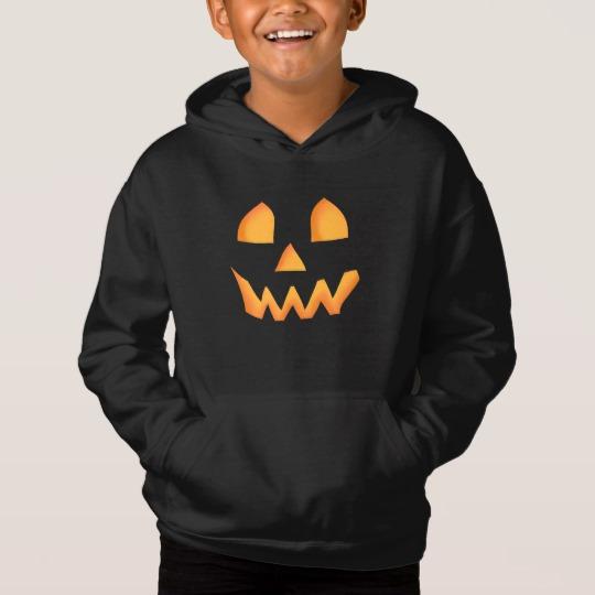 Jack O Lantern Face Kids' Fleece Pullover Hoodie