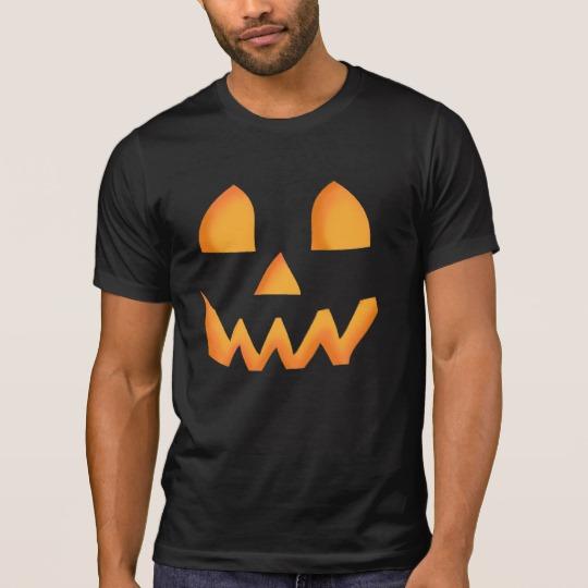 Jack O Lantern Face Men's Alternative Apparel Crew Neck T-Shirt
