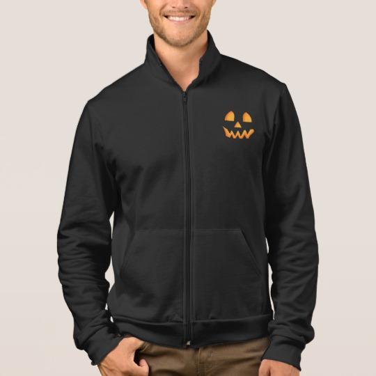 Jack O Lantern Face Men's American Apparel California Fleece Zip Jogger