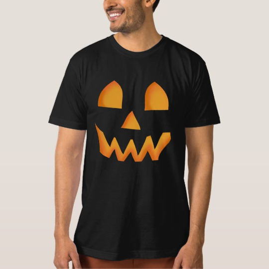 Jack O Lantern Face Men's American Apparel Organic T-Shirt