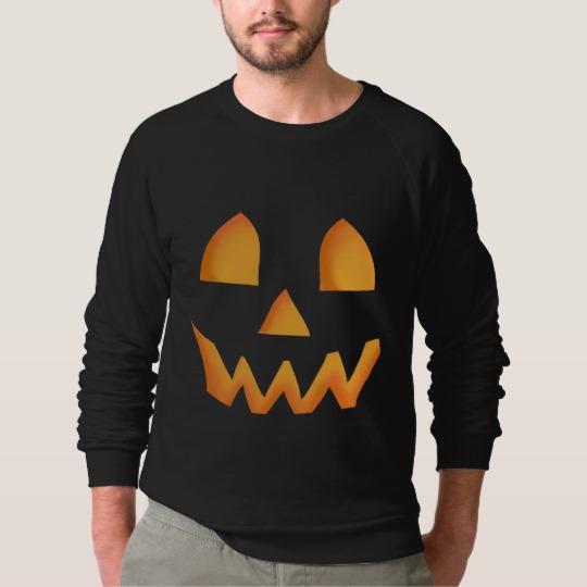 Jack O Lantern Face Men's American Apparel Raglan Sweatshirt