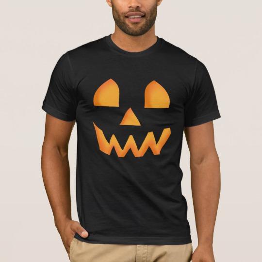 Jack O Lantern Face Men's Basic American Apparel T-Shirt
