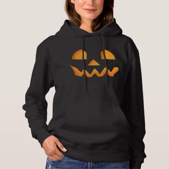 Jack O Lantern Face Men's Basic Hooded Sweatshirt