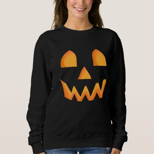 Jack O Lantern Face Men's Basic Sweatshirt