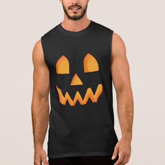 Jack O Lantern Face Men's Ultra Cotton Sleeveless T-Shirt