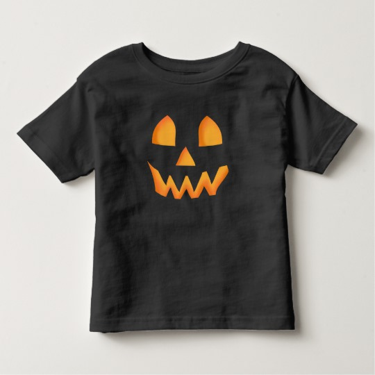 Jack O Lantern Face Toddler Fine Jersey T-Shirt