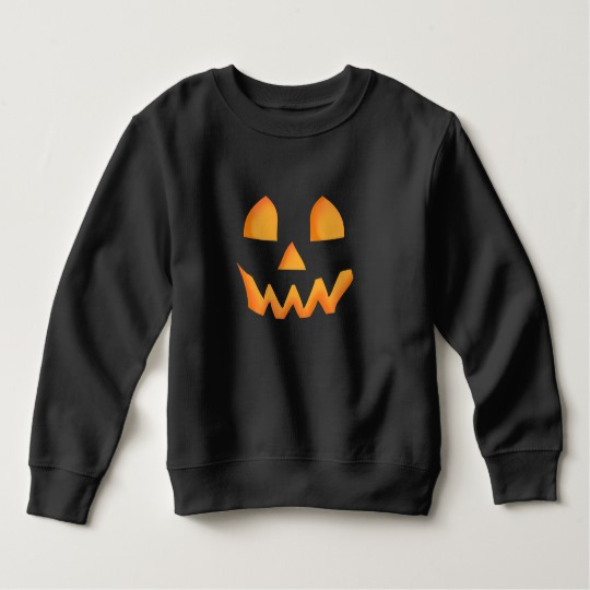 Jack O Lantern Face Toddler Fleece Sweatshirt