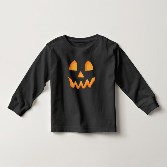 Jack O Lantern Face Toddler Long Sleeve T-Shirt