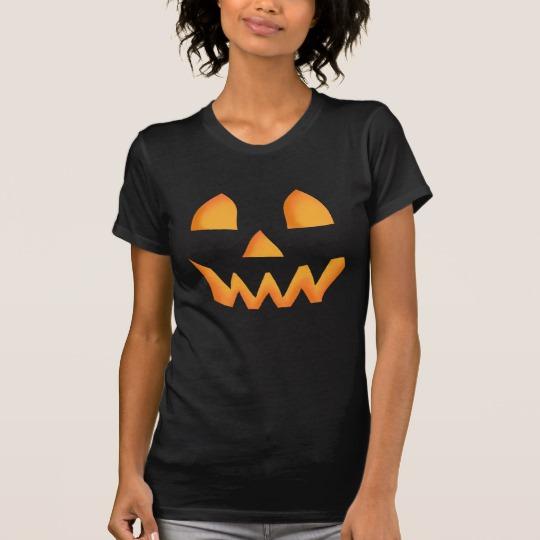 Jack O Lantern Face Women's Alternative Apparel Crew Neck T-Shirt