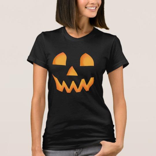 Jack O Lantern Face Women's American Apparel Fine Jersey T-Shirt