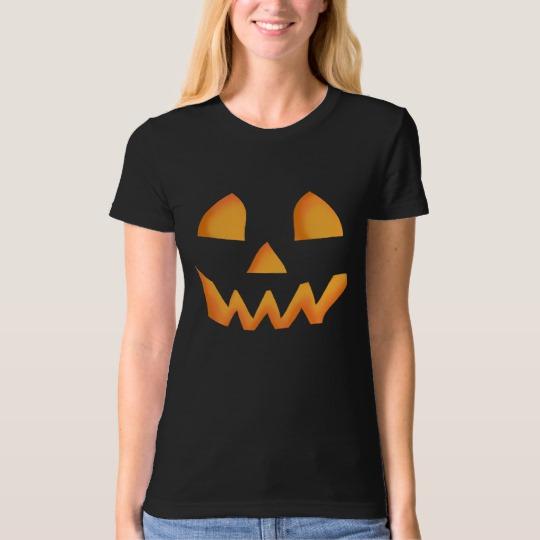 Jack O Lantern Face Women's American Apparel Organic T-Shirt
