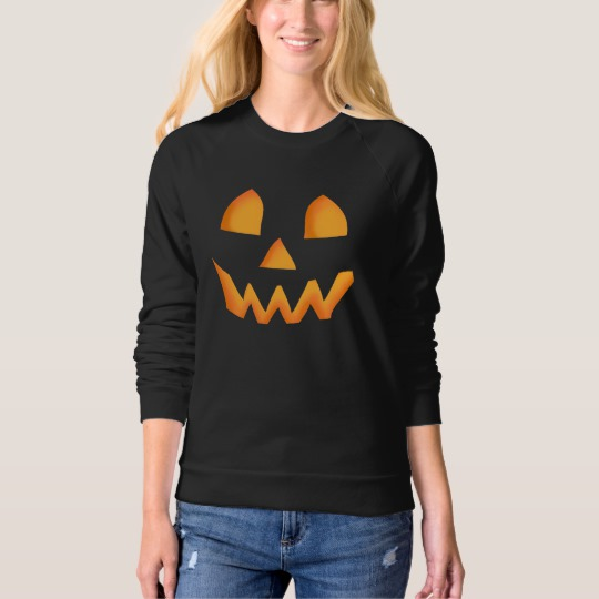 Jack O Lantern Face Women's American Apparel Raglan Sweatshirt