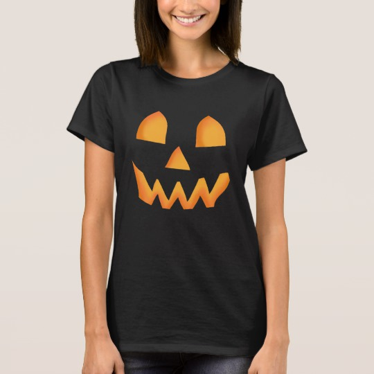 Jack O Lantern Face Women's Basic T-Shirt