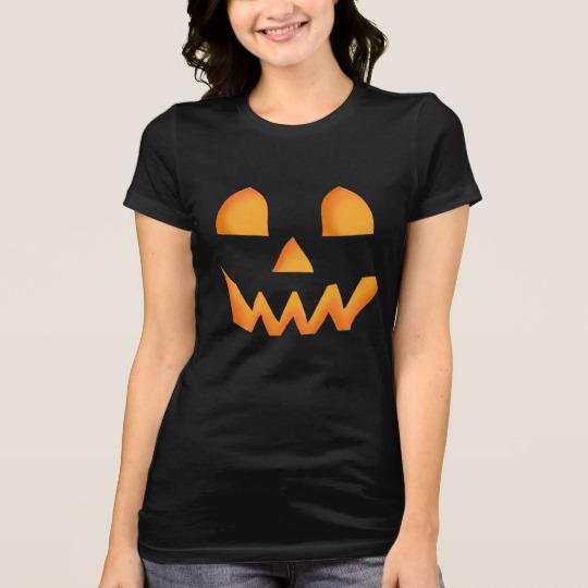 Jack O Lantern Face Women's Bella+Canvas Favorite Jersey T-Shirt
