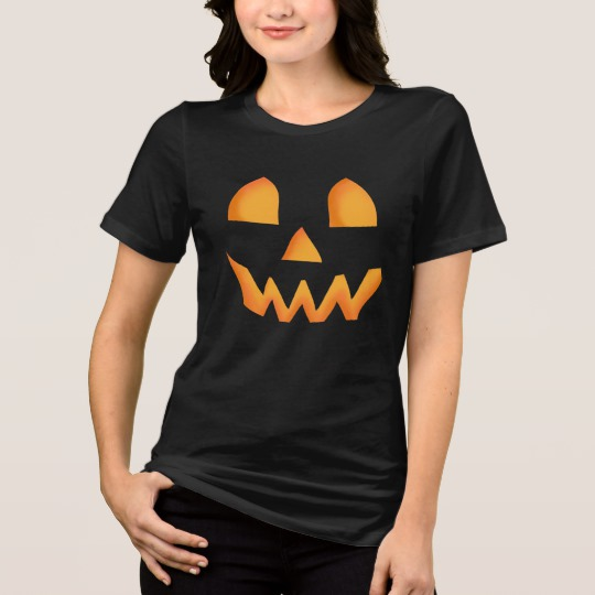 Jack O Lantern Face Women's Bella+Canvas Relaxed Fit Jersey T-Shirt