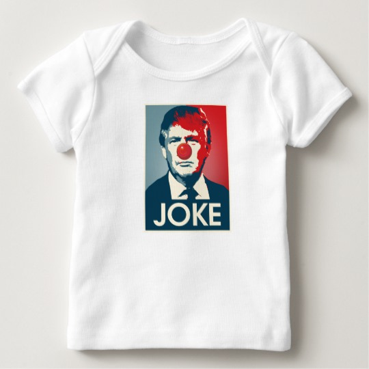 Trump Clown Joke Baby American Apparel Lap T-Shirt