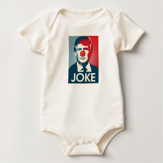 Trump Clown Joke Baby American Apparel Organic Bodysuit