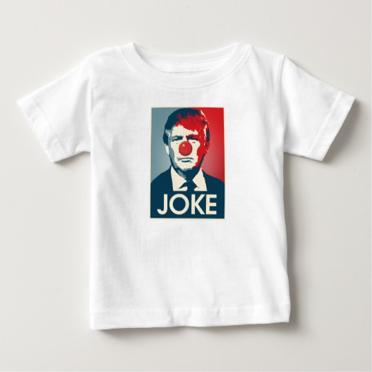 Trump Clown Joke Baby Fine Jersey T-Shirt
