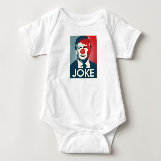 Trump Clown Joke Baby Jersey Bodysuit