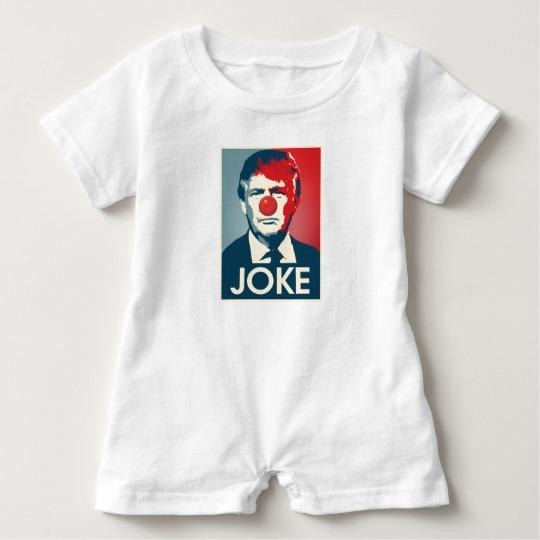 Trump Clown Joke Baby Romper