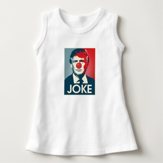 Trump Clown Joke Baby Sleeveless Dress