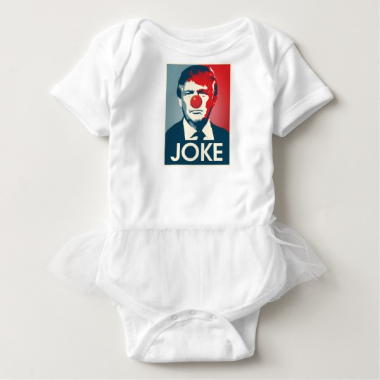 Trump Clown Joke Baby Tutu Bodysuit