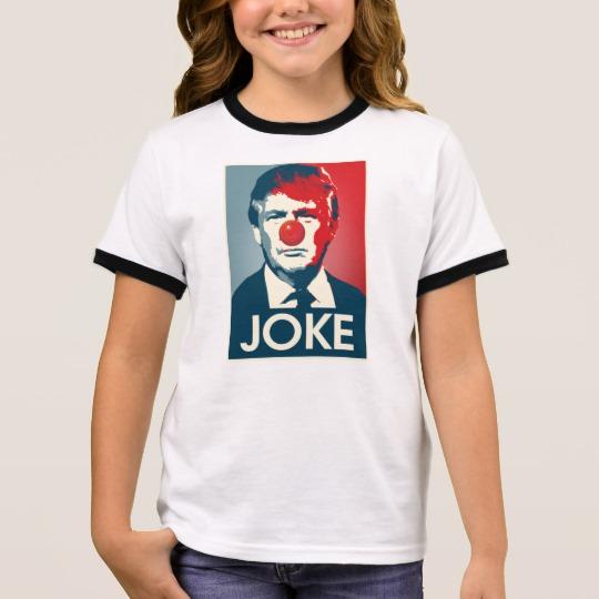 Trump Clown Joke Girl's Ringer T-Shirt