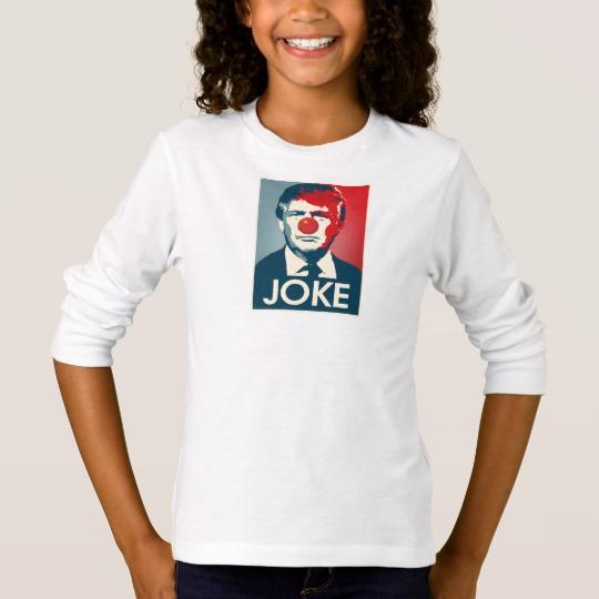 Trump Clown Joke Girls' Basic Long Sleeve T-Shirt