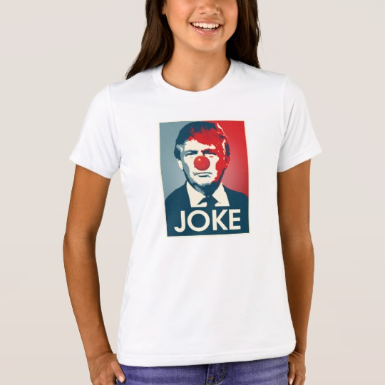 Trump Clown Joke Girls' Bella+Canvas Crew T-Shirt