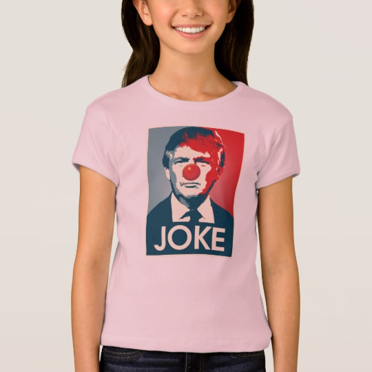 Trump Clown Joke Girls' Bella+Canvas Fitted Babydoll T-Shirt