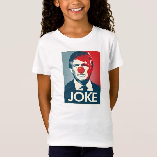 Trump Clown Joke Girls' Fine Jersey T-Shirt
