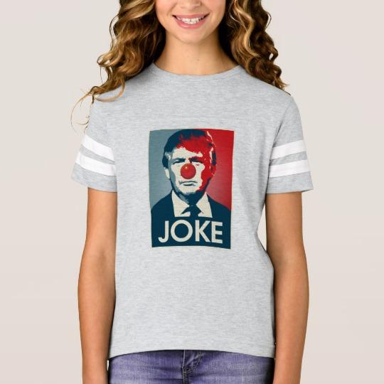 Trump Clown Joke Girls' Football Shirt