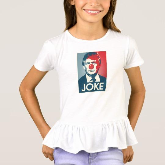Trump Clown Joke Girls' Ruffle T-Shirt