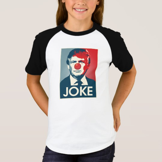 Trump Clown Joke Girls' Short Sleeve Raglan T-Shirt