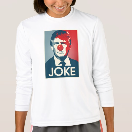 Trump Clown Joke Girls' Sport-Tek Competitor Long Sleeve T-Shirt