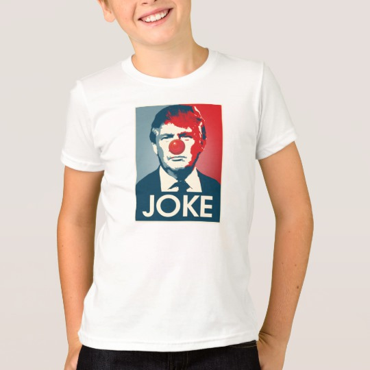 Trump Clown Joke Kids' American Apparel Fine Jersey T-Shirt