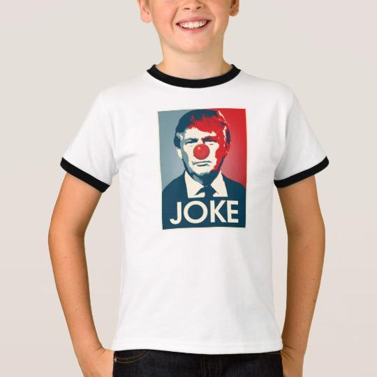 Trump Clown Joke Kids' Basic Ringer T-Shirt