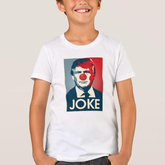 Trump Clown Joke Kids' Bella+Canvas Crew T-Shirt