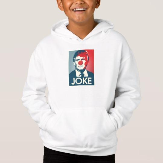 Trump Clown Joke Kids' Fleece Pullover Hoodie