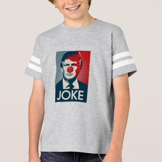 Trump Clown Joke Kids' Football Shirt