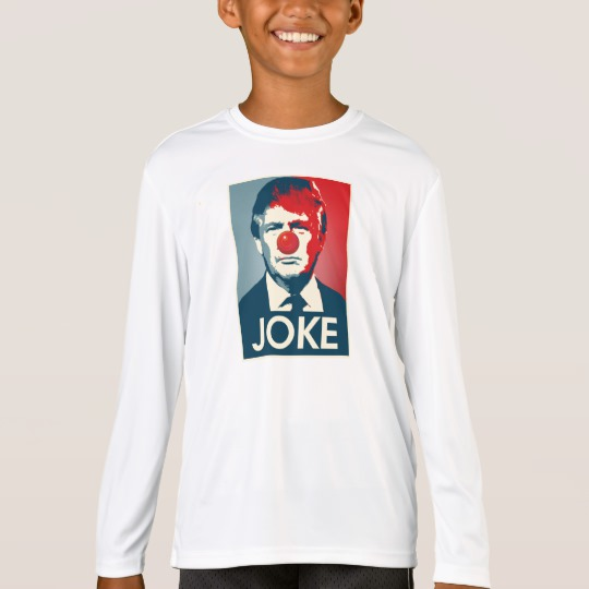 Trump Clown Joke Kids' Sport-Tek Competitor Long Sleeve T-Shirt