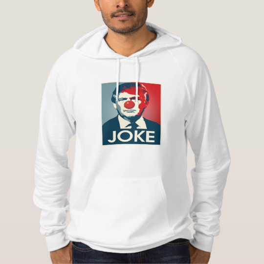 Trump Clown Joke Men's American Apparel California Fleece Pullover Hoodie