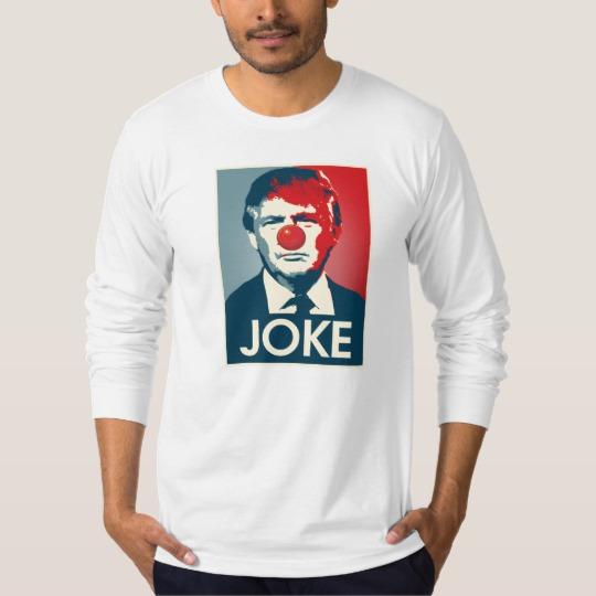 Trump Clown Joke Men's American Apparel Fine Jersey Long Sleeve T-Shirt