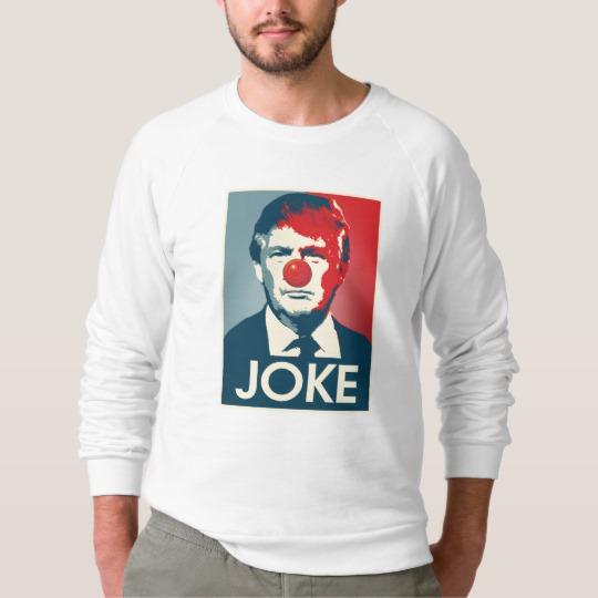 Trump Clown Joke Men's American Apparel Raglan Sweatshirt