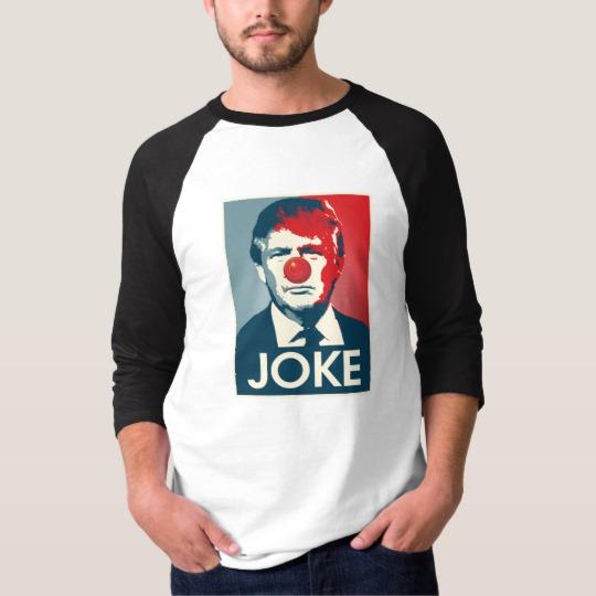 Trump Clown Joke Men's Basic 3/4 Sleeve Raglan T-Shirt